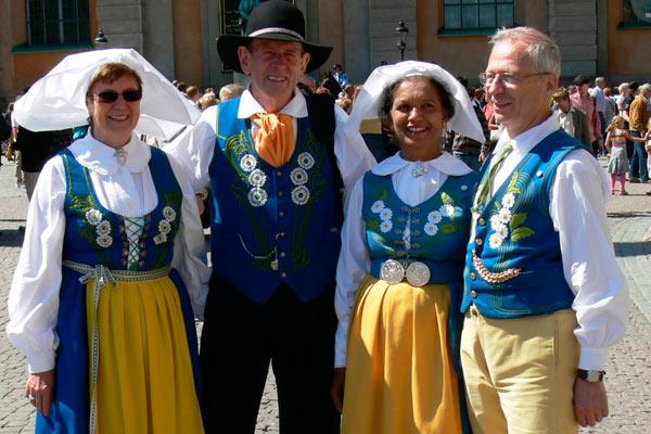 Tradicionales Típico Traje Suecia Vestidos De T6zqnBWF